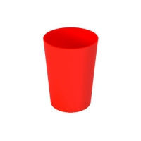 Set 6 units Red Plastic Cup 600 ml