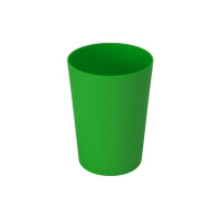 Set 6 units Green Plastic Cup 600 ml