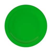 Set 6 units Green Dinner Plate 24 cm Ø