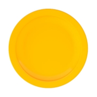 Set 6 units Yellow Dinner Plate 24 cm Ø