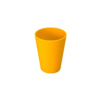 Set 6 units Yellow Plastic Cup 300 ml