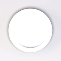 Set 6 units White Dinner Plate 21 cm Ø
