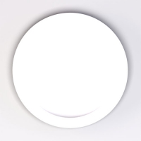 Set 6 units White Dinner Plate 24 cm Ø