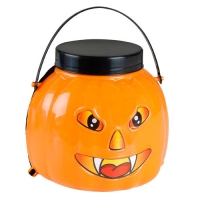 ORANGE AND BLACK PUMPKIN BAG