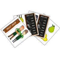 NEW! FRUIT SHOP LAMINATED SHEETS