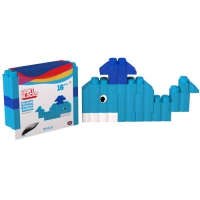 GIANT BLOCKS WHALE 16 PIECES + 1 LAMINATED SHEET