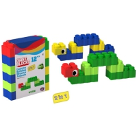 GIANT BLOCKS CATERPILLAR 12 PIECES